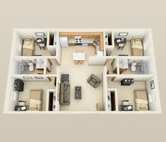 4 Bedroom Apartment House Plans – Graphic World Co