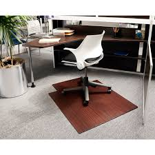 dazzling decor on bamboo office chair mats 125 purely bamboo