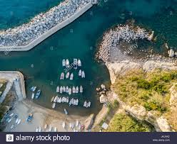 aerial view of pizzo calabro calabria italy houses on rock