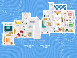 floor plans of the flats and apartments of famous fictional