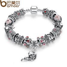 european style bracelet beads images Bamoer hot sell european style silver crystal charm bracelet for jpg