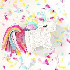 hello wonderful diy mini unicorn pinata with free printable