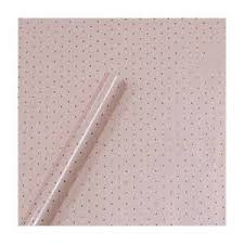 gold foil wrap gold foil small dots on blush pink wrapping gift wrap sugar