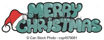 merry christmas sign merry christmas sign with hat vector illustration vector clip