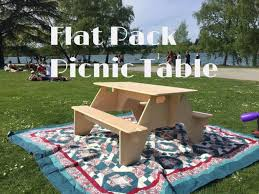 Plans For Building A Heavy Duty Picnic Table by Flat Pack Picnic Table From 1 Sheet Of Plywood 8 Steps With