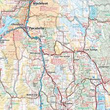 Springfield Map Idaho Solar Eclipse Wall Map U2014 Benchmark Maps