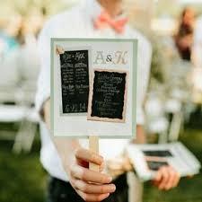 Diy Fan Programs Diy Fan Wedding Programs