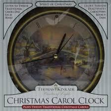 kinkade spirit of carol clock plays 12 carols