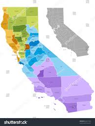 Map With State Names by California State Counties Map Boundaries Names Stock Vector