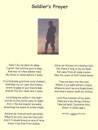 my father wrote soldier u0027s prayer