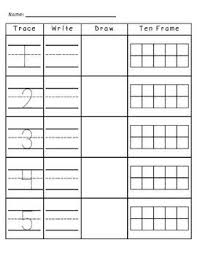 free worksheets trace and write numbers 1 10 free math