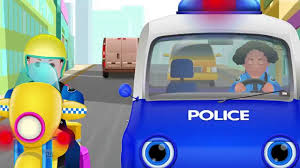 chuchu tv police chase u0026 catch thief in police car save giant