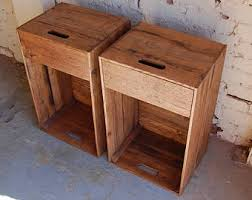 Wooden Crate Nightstand Wooden Crates Nightstands Side Tables Drawer Reclaim Wood