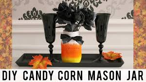 diy fall halloween room decor candy corn mason jar