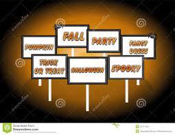 halloween signs stock illustration image 44711224