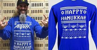 happy hanukkah sweater anthrax sued for 1 million hanukkah sweater metal addicts