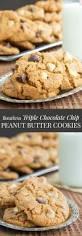 Flourless Triple Chocolate Chip Peanut Butter Cookies Cupcakes