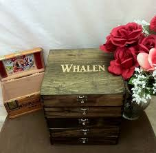 Personalized Wooden Boxes Rustic Groomsmen Gift Set Of 5 Wooden Cigar Boxes Laser