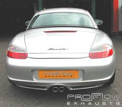 porsche back porsche boxster fitted with custom stainless steel exhaust dual