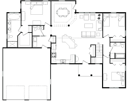 ranch house floor plans open plan houses with open floor plans open floor plans houses open floor