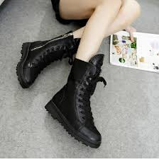 ladies brown biker boots hk freeshipping 2014 women ladies motorcycle boots vintage combat