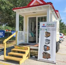 pre built tiny homes at building supply store 84 lumber 84
