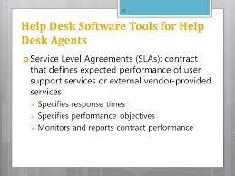 Help Desk Service Level Agreement Computer Training U0026 Support Ppt Download