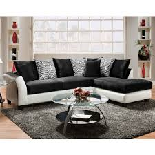 Black Sectional Sofas Black And White Pattern Pillows Zigzag 2 Sectional