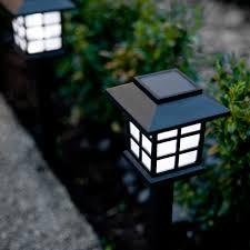 Led Solar Landscape Lights Lights4fun Inc Rakuten Set Of 6 White Led Solar Lantern