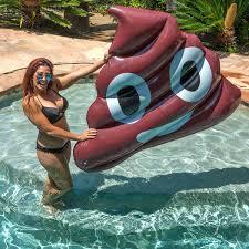 Giant 5 Foot Inflatable Poop Emoji Pool Float