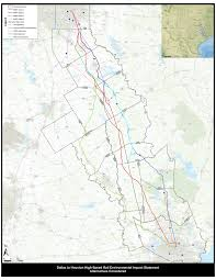 Maps Dallas by Maps Texans Against High Speed Rail