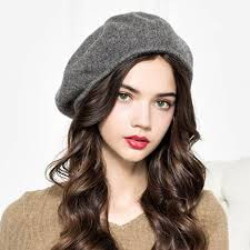 barret hat wool ruched beret hat for women trilby winter hats