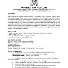 quality assurance resume exles best of sle resume of software quality assurance gotraffic co