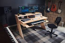 home studio workstation desk output launch platform a studio desk for musicians with music studio