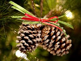 pine cone ornament instead of a bow you could use springs