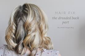 how to cut womens hair with double crown hair fix the dreaded back part the small things blog