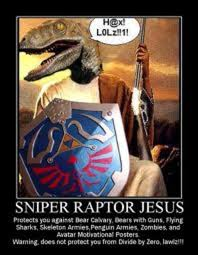 Meme Raptor - image 193110 raptor jesus know your meme