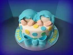 baby bottom baby shower cake for twins by faith baked cakes baby