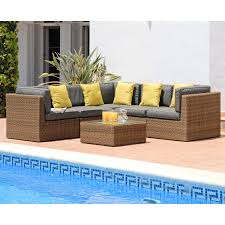 Outdoor Rattan Corner Sofa Suntime Lyon 5 Seater Rattan Corner Sofa Set U2013 The Uk U0027s No 1
