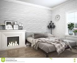modern bright interior 3d rendering stock illustration image