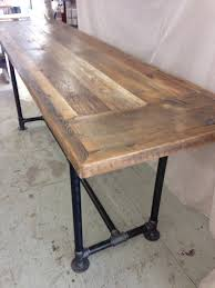 wood counter height table excellent reclaimed wood dining table modern industrial 8 ft x 3 for