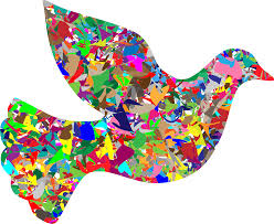 clipart modern art peace dove