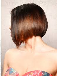 cutting a beveled bob hair style low and steep angular bob for straight hair side view my style