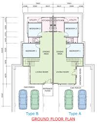 single storey semi detached house floor plan semi detached home plans glamorous semi bungalow house plans s best