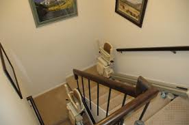 Stairs With Landing by Faqs Ascent Stairlifts