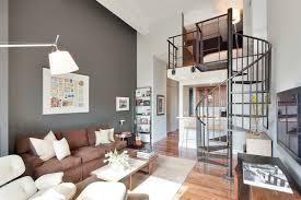 deco canape marron design interieur idée déco salon peinture gris souris canapé marron