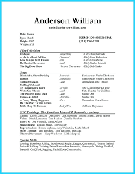 musical theatre resume exles theater resume exle musical theatre resume exles resume
