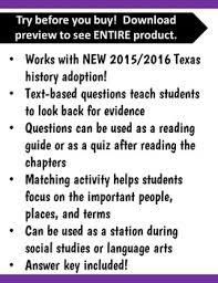 grade texas revolution u0026 alamo worksheets quizzes matching