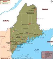 maine map with cities airports in maine maine airports map