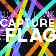 glow in the capture the flag glow sticks and flags